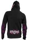 "Women's ""Girl Skull"" Zip Up Hoodie by Lethal Angel (Black) - www.inkedshop.com"
