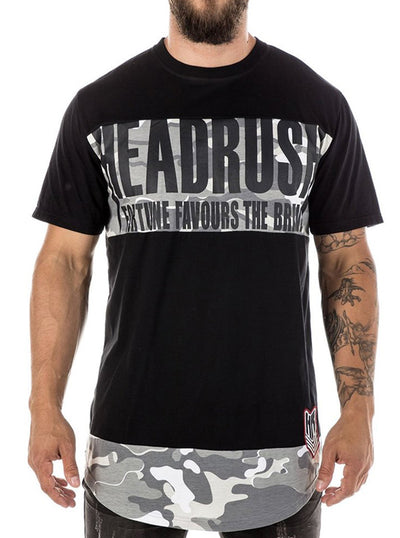 "Men's ""Sleepwalker"" Elongated Tee by Headrush Brand (Black)"