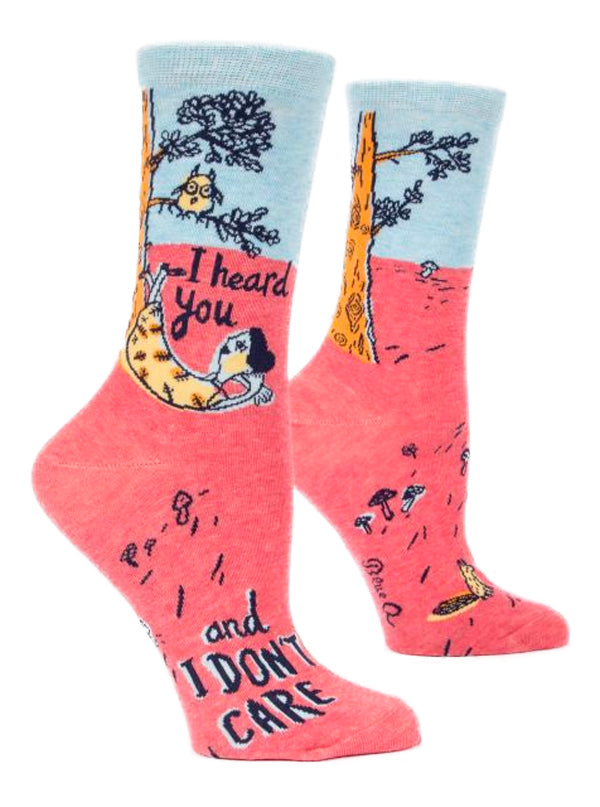Women's I Heard You And I Don't Care Crew Socks