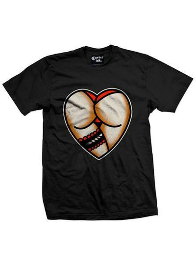 "Men's ""Heart Butt"" Tee by Cartel Ink (Black) - www.inkedshop.com"