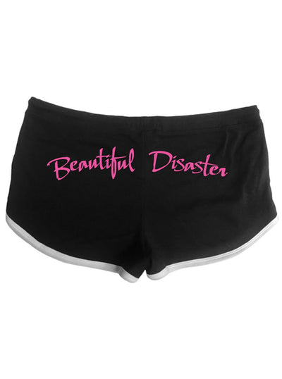 "Women's ""Heart"" Shorts by Beautiful Disaster (Black)"
