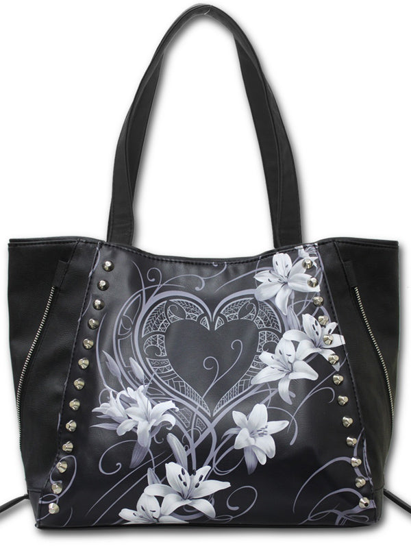 Pure of Heart Tote Bag by Spiral USA (Black)