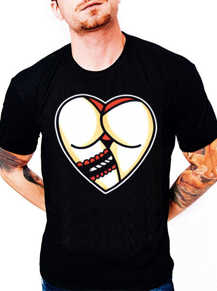Men's Heart Butt Tee by Cartel Ink