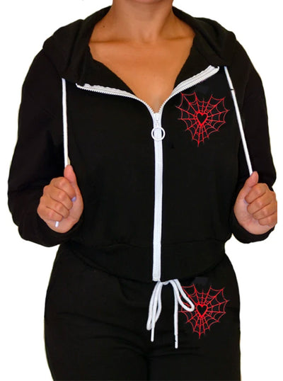 Women's Heart Web Sweatsuit by Pinky Star