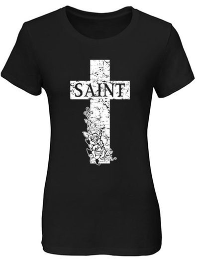 "Women's ""Heaven Sent, Hell Bound"" Tee by Tat Daddy (Black)"