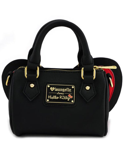 """Hello Kitty Bow"" Crossbody Bag by Loungefly (Black/Red)"