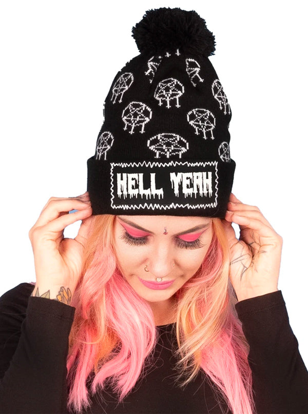 Hell Yeah Pom Beanie by Too Fast
