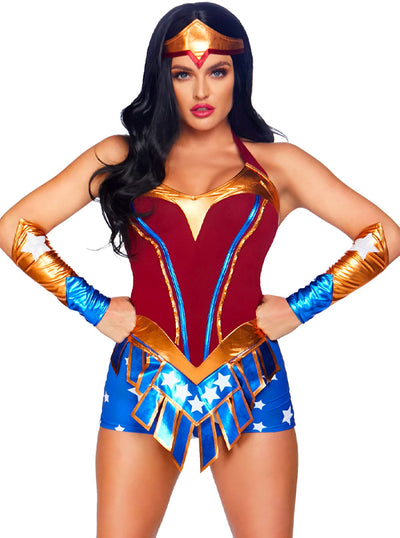 Women's Heart Stopping Heroine Costume by Leg Avenue