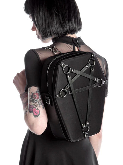 """Hexellent"" Coffin Backpack by Killstar (Pink)"