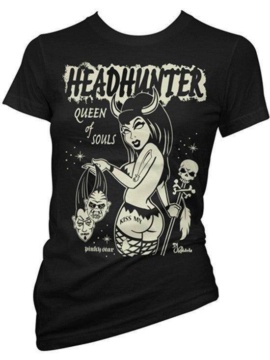"Women's ""Headhunter"" Tee by Pinky Star (Black) - www.inkedshop.com"