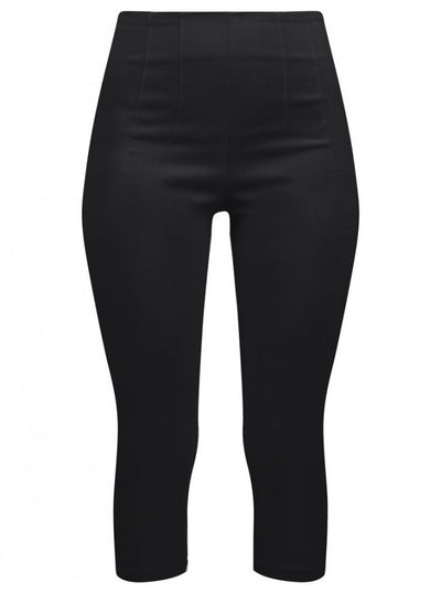 "Women's ""Retro Gal"" High Waist Capris by Double Trouble Apparel (Black) - www.inkedshop.com"