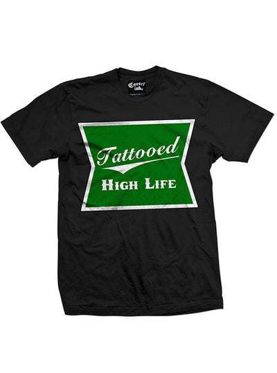 Men's Tattooed High Life Tee by Cartel Ink