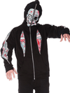 "Men's ""Dead Walking"" Zip-Up Hoodie by Jawbreaker (Black) - www.inkedshop.com"