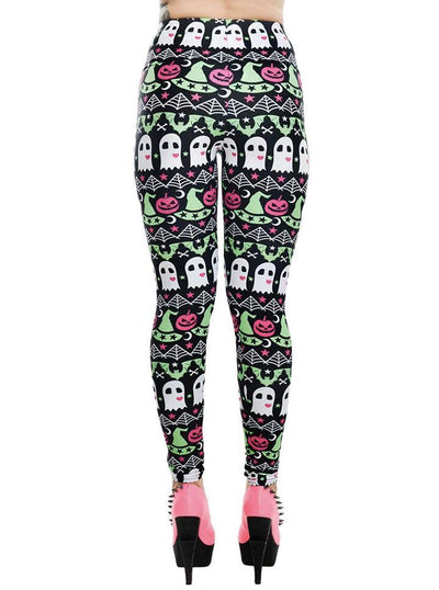 "Women's ""Hocus Pocus"" Addicted Leggings by Rat Baby (Black)"