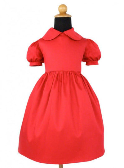 "Girl's ""Holiday"" Dress by Hemet (Red) - www.inkedshop.com"