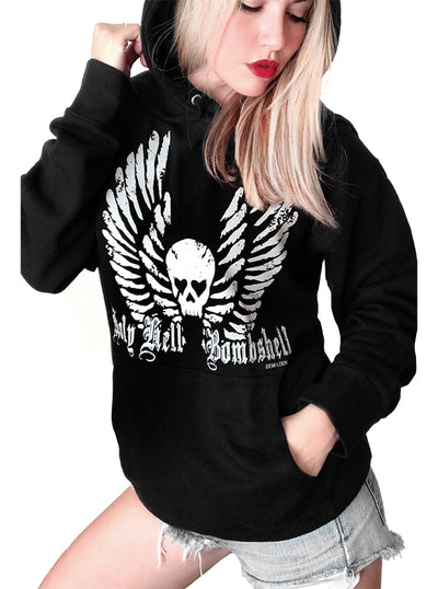 Women's Holy Hell Bombshell Boyfriend Hoodie by Demi Loon