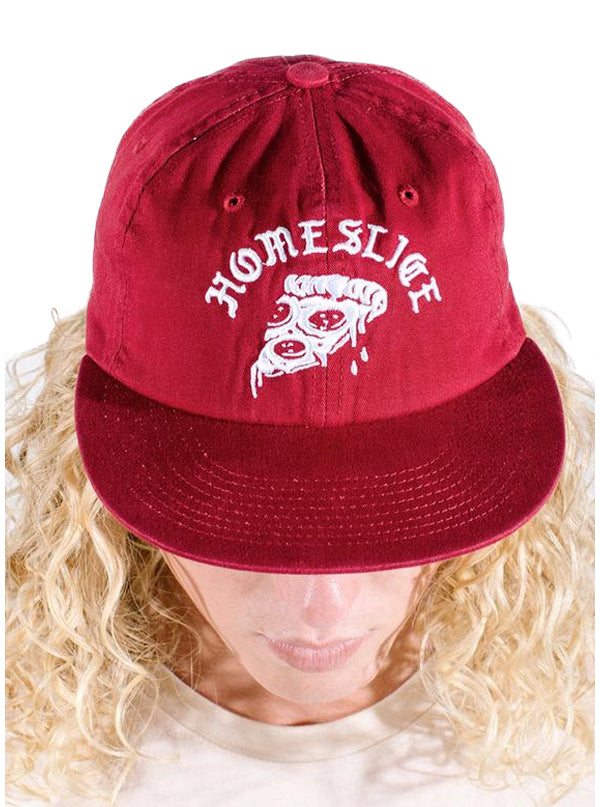 Men's Homeslice Strapback Hat by Pyknic (Brandywine Red)