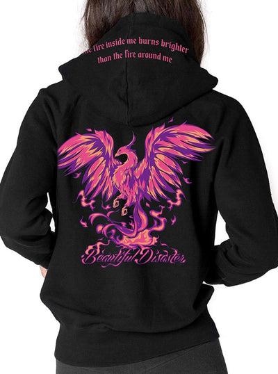 Women's Phoenix Zip Hoodie by Beautiful Disaster
