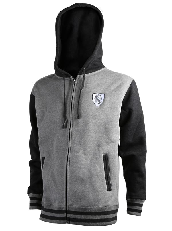 Men's Lion Shield Duo-Tone Zip Hoodie by OG Abel