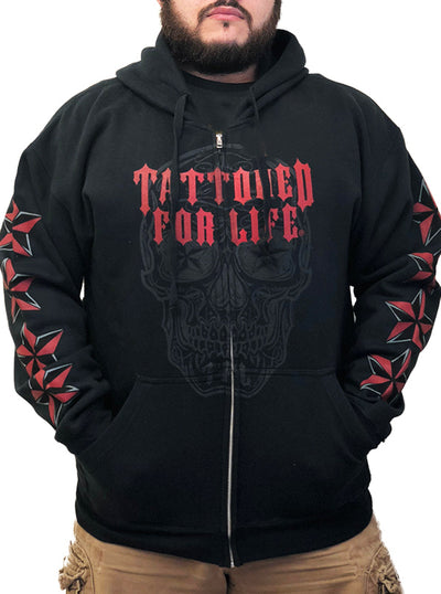 "Men's ""DOD Tattooed For Life"" Hoodie by Hot Leathers (Black)"