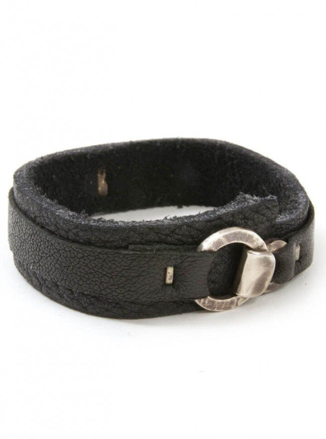"Men's ""Hook And Eye"" Cuff by Aileyan (Black) - www.inkedshop.com"