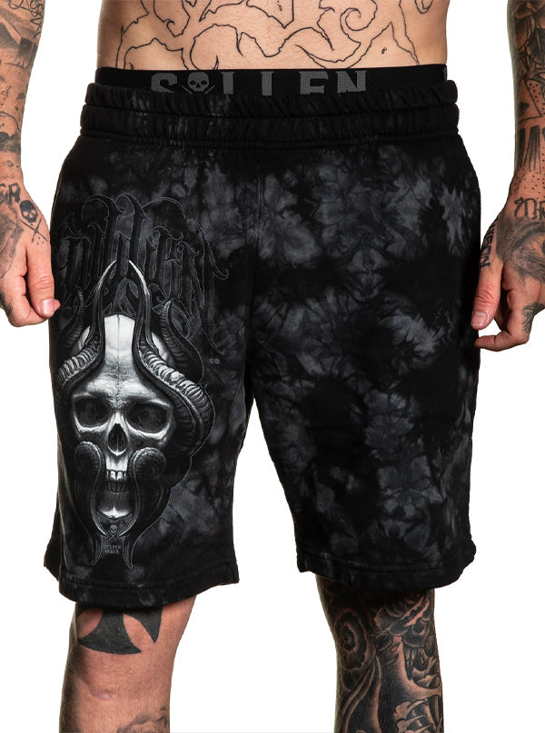 Men's Horn Skull Shorts by Sullen