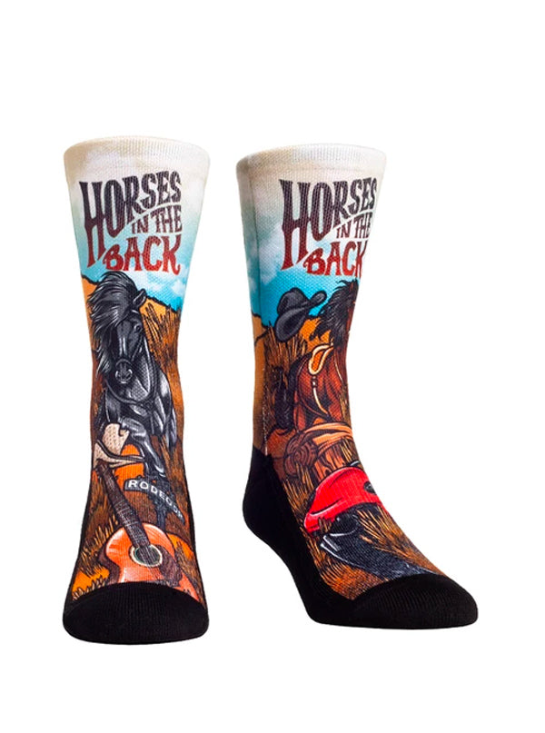 Unisex Horses in the Back Socks (Brown)
