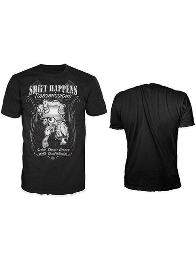 "Men's ""Shift Happens"" Tee by Lethal Threat (Black) - www.inkedshop.com"