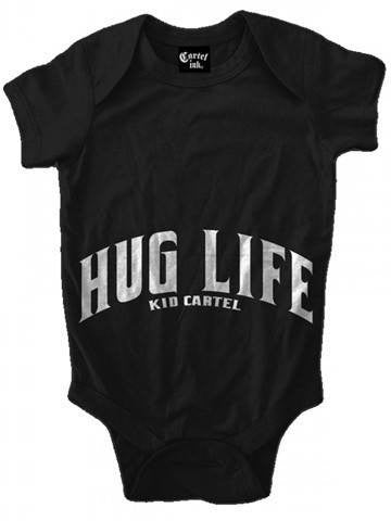 "Infant's ""Hug Life"" Onesie by Cartel Ink (Black) - www.inkedshop.com"