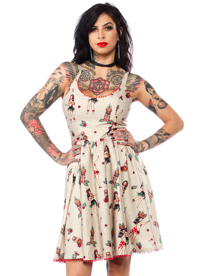 Women's Hula Gals Sweets Dress by Sourpuss