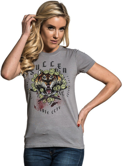 Women's Stay Hungry Tee by Sullen (Light Olive)