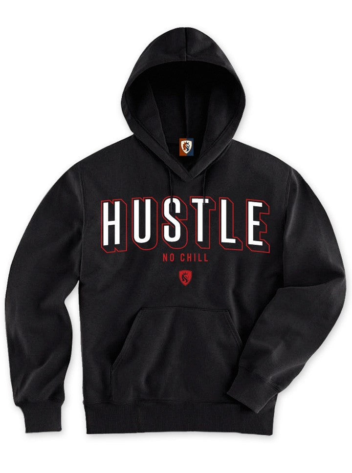 "Men's ""Hustle No Chill"" Pullover Hoodie by OG Abel (Black) - www.inkedshop.com"