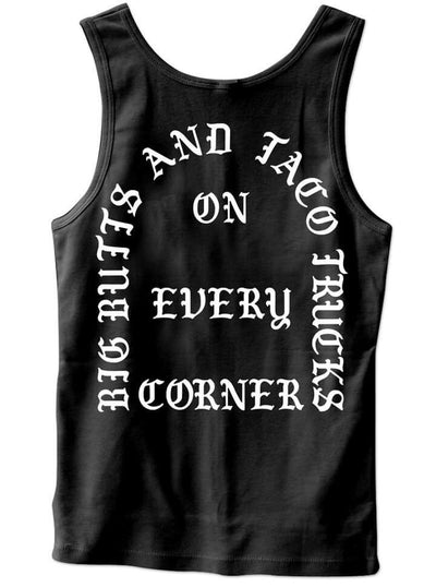 "Men's ""I Feel Like Tacos "" Tank by Cartel Ink (Black) - www.inkedshop.com"