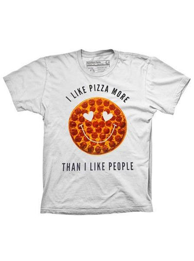 "Men's ""Pizza > People"" Tee by Pyknic (White) - www.inkedshop.com"