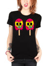 "Women's ""ice Baby Ice"" Tee By Skelly & Co (Black)"