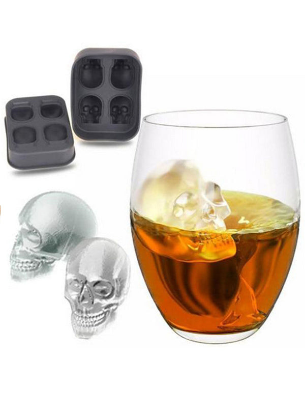 Quot 3d Skull Quot Silicone Ice Cube Mold Skull Ice Cube Tray