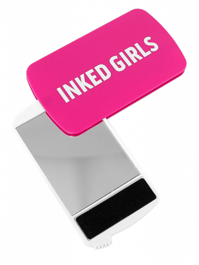 """Inked Girls"" Compact Mirror and Nail File (Pink) - www.inkedshop.com"