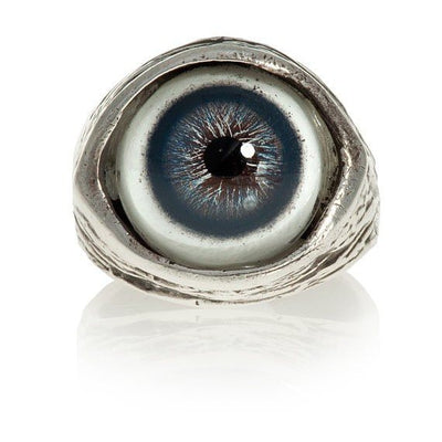 Human Evil-Eye Ring (Blue) by Blue Bayer Design - InkedShop - 1