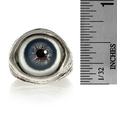 Human Evil-Eye Ring (Blue) by Blue Bayer Design - InkedShop - 3