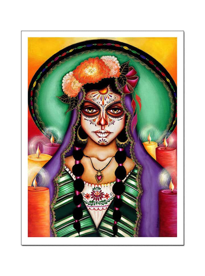 """Ilumina Mi Camino"" Print by Cat Ashworth for Black Market Art - www.inkedshop.com"