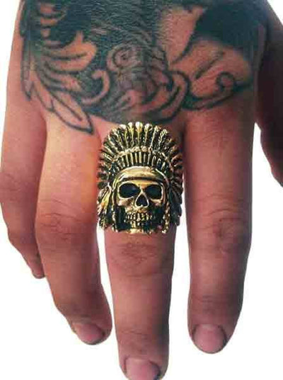 """Indian Chief"" Ring by Han Cholo (More Options) - www.inkedshop.com"