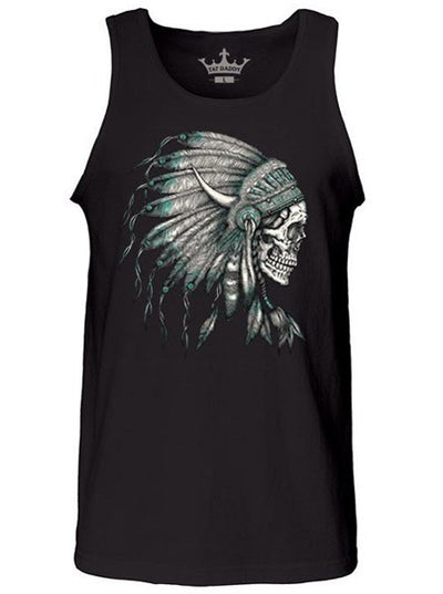 "Men's ""Indian Skull"" Tank by Tat Daddy (Black)"
