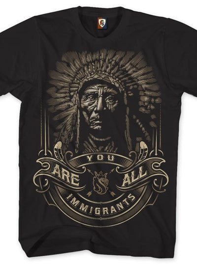 "Men's ""Indigenous"" Tee by OG Abel (Black)"