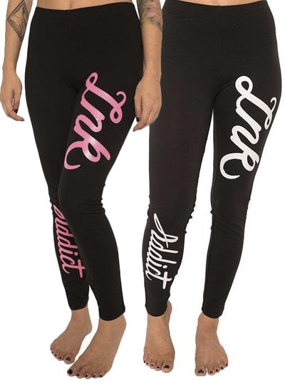 Women's INK Script Leggings by InkAddict