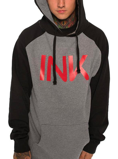 Men's Ink Gunmetal/Black Hoodie by InkAddict