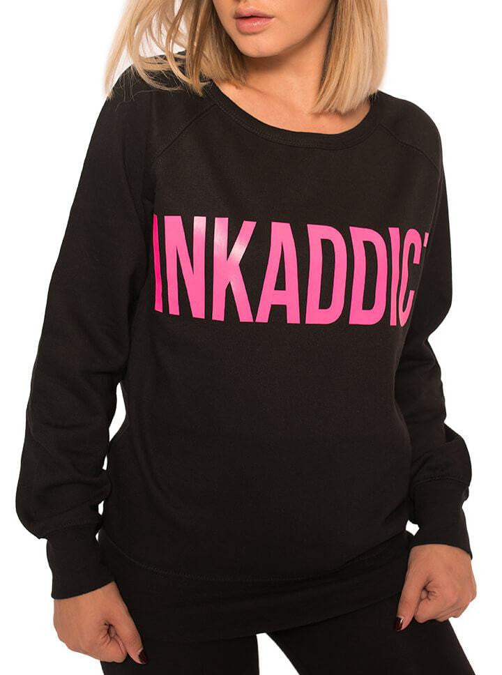 "Women's ""InkAddict"" Crewneck by InkAddict (More Options) - www.inkedshop.com"