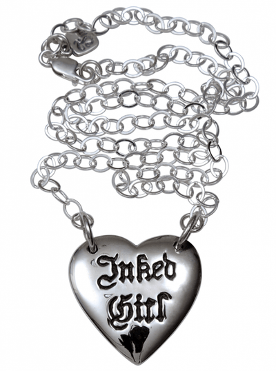 """Inked Girl"" Necklace by Femme Metale - www.inkedshop.com"