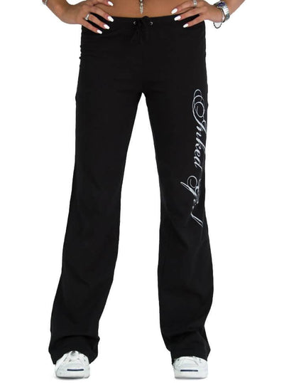 "Women's ""Last Kiss"" Lightweight Sweatpants by Inked (Black) - www.inkedshop.com"