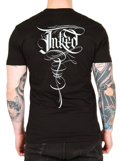 Unisex Inked Lettering Tee by B.J. Betts for Inked