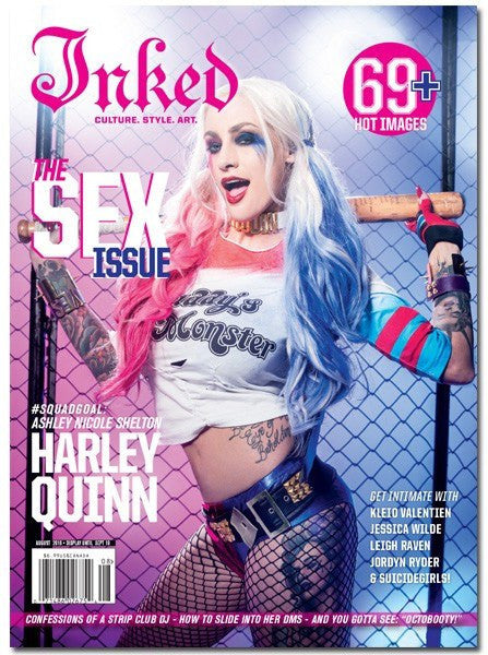 Inked Magazine: The Sex Issue Featuring Ashley Nicole Shelton - August 2016 - www.inkedshop.com
